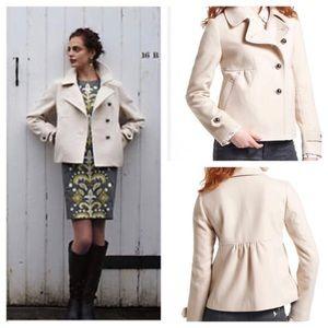 Asymmetric Cropped Pea coat